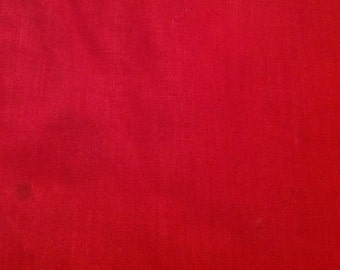 3 Yards of Vintage Red Cotton Fabric