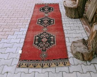 Hallway,2'5x9'3 ftTurkish Rug,78x286 cm,Distressed Anatolian Rug,Large runner,Bohemian Rug,anatolian turkish Runner runner,1271