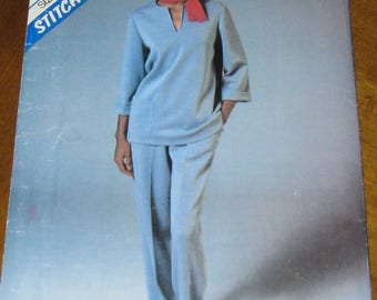 Vintage 1983 McCall's pattern for Misses Top and Pants.Size 10-12-14.Uncut factory folded.