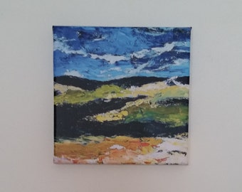 canvas print of my original acrylic painting abstract landscape