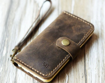 wristlet Strap iPhone x / 8 / 8 Plus, iPhone 7 / 7 Plus Leather Case Wallet iPhone 6 / 6s Wallet Case iPhone 6 Plus / 6S Plus Wallet Case
