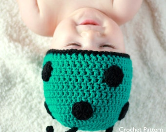 CROCHET PATTERN - Little Buggy or Ladybug / Ladybird Hat - Sizes from Preemie to Adults - PDF 106 - Sell what you Make