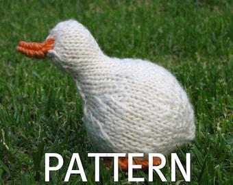Waldorf Toy, Goose Knitting Pattern (PDF) Instant Download