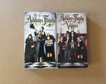 Lot of 2 Addams Family + Addams Family Values (VHS)