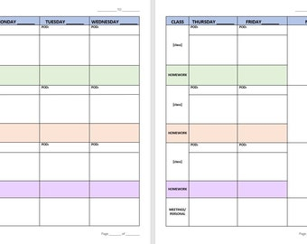 Secondary School Teacher Lesson Planner Combo Pack-Customizable