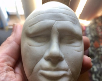 Death Mask Poison Bottle, Porcelain, 140 grams, Beautiful and Mint FREE SHIP USA!