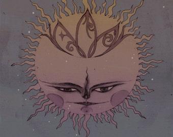 The Moon's Companion - Astrology / Magic / Fantasy Art Print