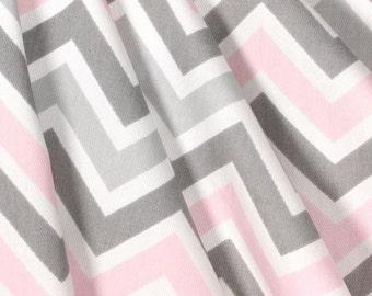 Pink and Gray Valance Nursery Curtain Valance Window Treatments Panels Home Decor Chevron Stripe Drapery Custom Valance