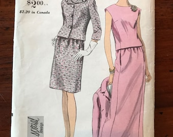 Vintage Vogue Special Design Pattern - Suit in Two Lengths and Overblouse