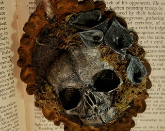 Unearthed - Beneath the Lillies I Assemblage Ornament