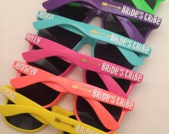 Bachelorette Party Favor, Bridesmaid Proposal Box, Bride Tribe, Bachelorette Sunglasses, Custom Sunglasses, Wedding Favors, Bachelorette