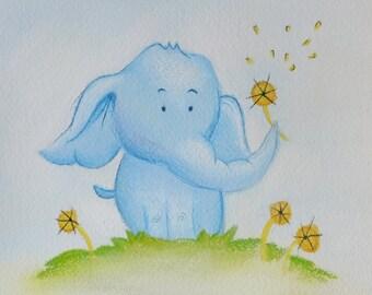 Ellie the Elephant Illustration