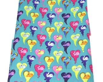 pony hearts  fabric