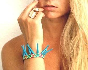 Sky Blue Spikes Friendship Bracelet.