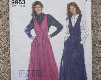 UNCUT Misses Jumper - Simplicity Sewing Pattern 9963 - Vintage 1990