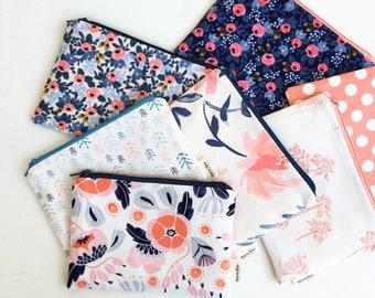 Teacher Gift, Pencil Pouch, Coin Purse, Zipper Pouch, School Supplies, Small Gift for Women, Kids