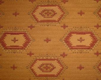 Golden Tan Southwestern Woven Jacquard  (3 7/8 Yd)  Southwestern Home Decor Fabric, Southwestern Decorating Fabrics, Home Decor Fabric