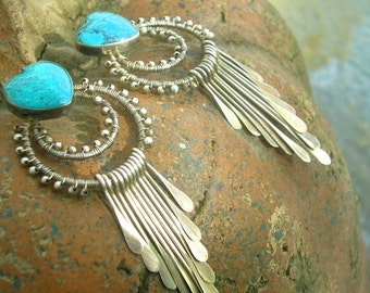 SEDONA FUN - Sterling Earrings, Sterling Silver, Turquoise