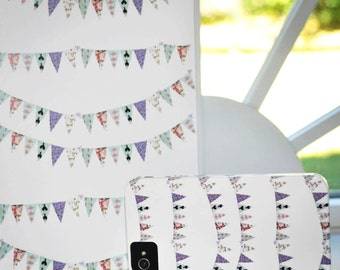 Cell Phone Case, Bunting, French Script banner