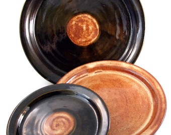 Handmade Dishes - Wedding Registry - Reserve Your Custom Made Ceramic Dinnerware Sets - Espresso Sunrise Tableware
