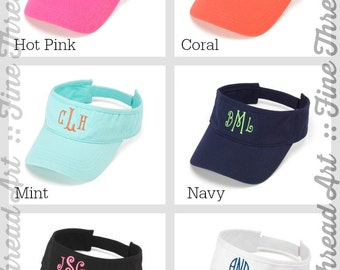 Ladies Monogram Visor Baseball Hat for Adults Name Initials Monogram