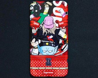 Luxury Sup reme DBZ custom iphone x case