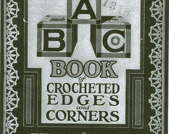 Book Of Crochet Edges & Corners Pattern Book PDF Instant Download