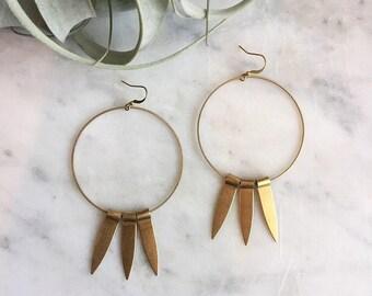 Long Beam Earrings