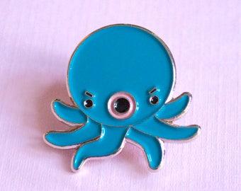 Angry Octopus Takoyaki Enamel Pin Brooch lapel pin Osaka kawaii octopus