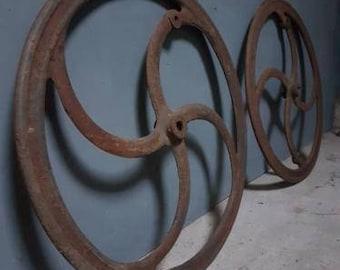 Antique Cast Iron Wheels