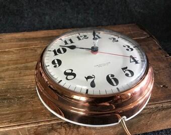 Gorgeous vintage copper Westclox electric kitchen clock