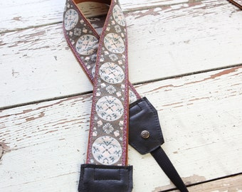 Handmade Leather and Suede Camera Strap Marie Antionette Style DSLR PRE-ORDER