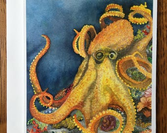 Octopus Dream Card