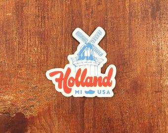 Holland Michigan Sticker - Holland Windmill - Vinyl Decal