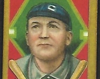 new just in 1911 t205 gold border cy young sweet caporal cigarettes back