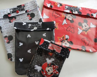 Mickey Mouse Ouch Pouch Set 4 Sizes Clear Pocket Travel Bags Organize Family Kids Baby First Aid Kit Disney Park Cruise Fish Extender Gift