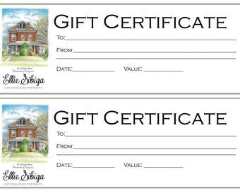 Gift Certificate for Custom House Rendering