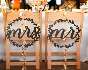 Wedding Chair Signs/ Bride and Groom Chair Signs/ Wedding Props/ Wedding Signs/ Wedding Decorations/ Wedding banner/ Wedding Accessories