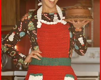DIGITAL DOWNLOAD: PDF Crochet Pattern for the Let's Bake A Cake Apron
