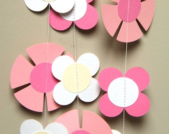 Fairytale flower garland (9 feet) - READY TO SHIP