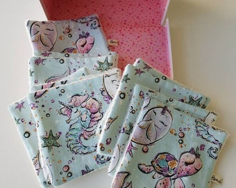 Washable wipes - baby wipes - animals pattern