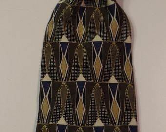 Cambridge Classics Vintage Silk Necktie in Shades of Beige, Brown, Gold and Black