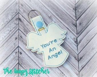 You're an Angel Vinyl Key Chain / Key Fob / Keychain