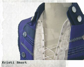 Mens Blue Steampunk Vest