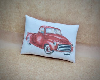 Farm truck pillow | Farmhouse pillow | Rustic truck decor | Delivery Pick up truck print | Rustic home decor | Antique truck pillow