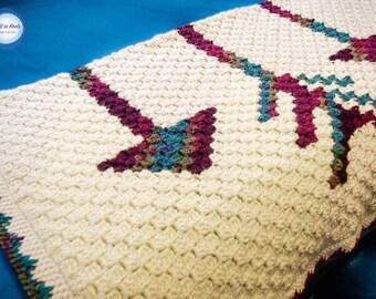 Fallen Arrows Blanket C2C Crochet Blanket PATTERN DOWNLOAD with Written Color Changes and Pixel Chart