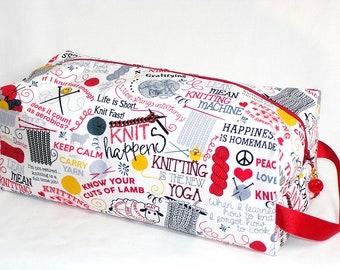 Knitting Sayings Sweater Bag