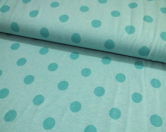 Cotton Jersey points green polka dots dots 0.50 meter-mix fabric by the metre