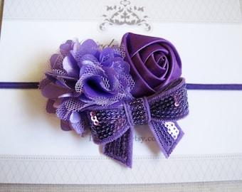 Purple Headband, Baby Headbands, Baby Girl Headbands, Baby Girl Headbands, Infant Headbands, Baby Bows