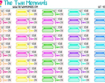 Get Your Tan On Tanning Bed Planner Stickers